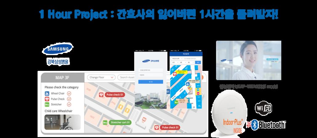피플앤드테크놀러지 강북삼성병원 RTLS 자산관리