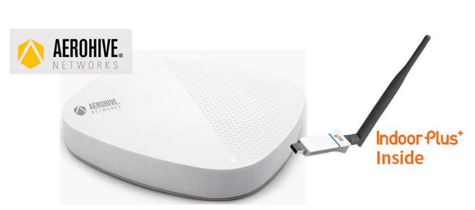 피플앤드테크놀러지 IndoorPlus USB 타입 IOT RTLS BLE 스캐너 / 게이트웨이 Aerohive 무선 AP